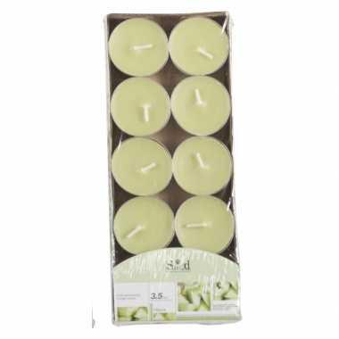 Geurkaarsjes meloen groen 10 stuks