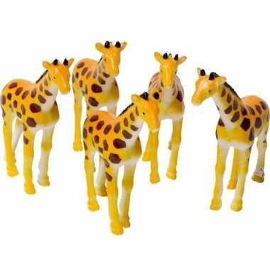 Gevlekte giraffe figuur 7 cm speelfiguur
