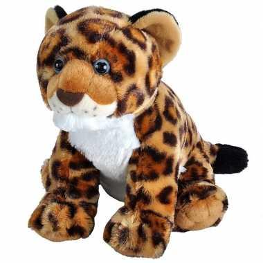 Gevlekte jaguars/luipaarden welpjes knuffels 35 cm knuffeldieren