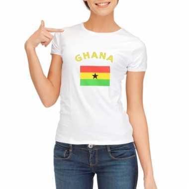 Ghanese vlag t-shirt voor dames