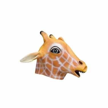 Giraffe dierenkop masker