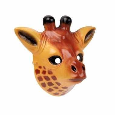 Giraffe masker gemaakt van plastic 3d 22cm