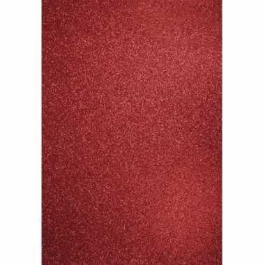 Glitterend rood hobby papier