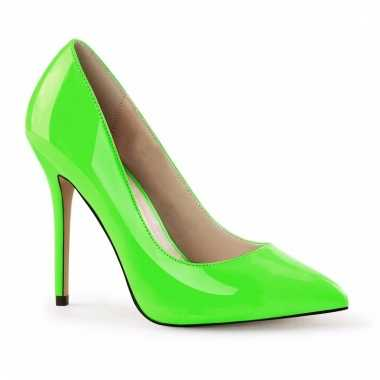 Glow in the dark pumps neon groen voor dames