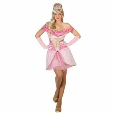 Goedkope droomprinses verkleed jurkje voor dames