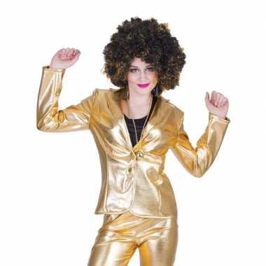 Gouden disco jaren 70 jasje voor dames