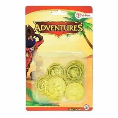 Gouden dukaten uit een piratenschat speelgeld