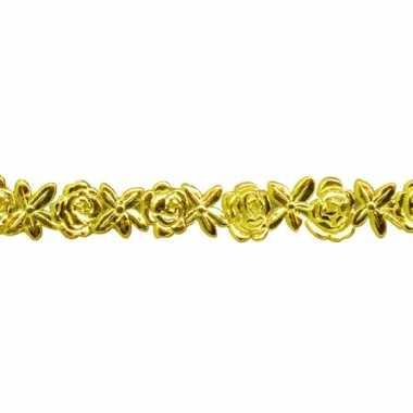 Gouden versier lintje van was 24 cm