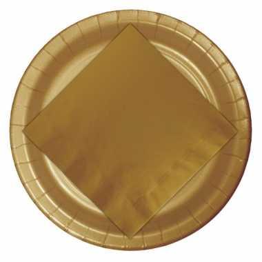 Gouden wegwerp bordjes 23 cm