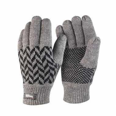 Grijs met zwarte result handschoenen