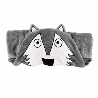 Grijse wolffleecedeken 100 x 130cm