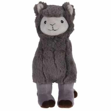 Grijze alpaca/lama knuffeldier 30 cm