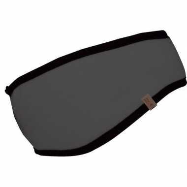 Grijze fleece ski hoofdband voor volwassenen