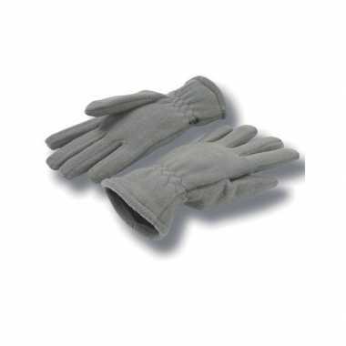 Grijze handschoenen fleece voor dames/heren