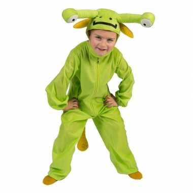 Groen alien verkleed pak voor kinderen