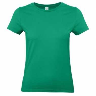 Groene shirt met ronde hals voor dames