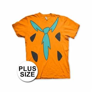 Grote maat fred flintstone shirt kostuum voor volwassenen