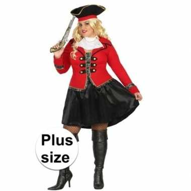 Grote maat piraten kostuum kapitein grace voor dames