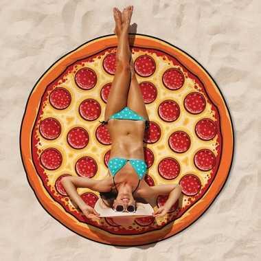 Grote pizza strandhanddoek 150 cm