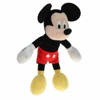 Grote pluche mickey mouse knuffel 40 cm