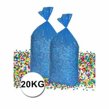Grote zak confetti 20 kg gerecyclede kranten