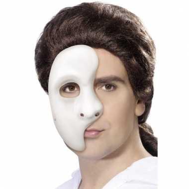 Half gezichtsmasker wit voor heren