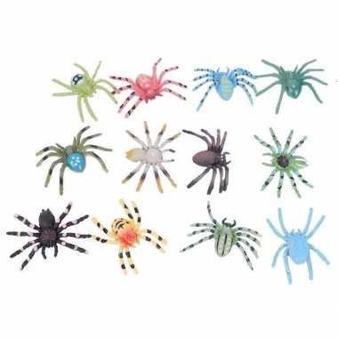 Halloween decoratie spinnetjes 24 stuks