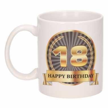 Happy birthday mok / beker 18 jaar
