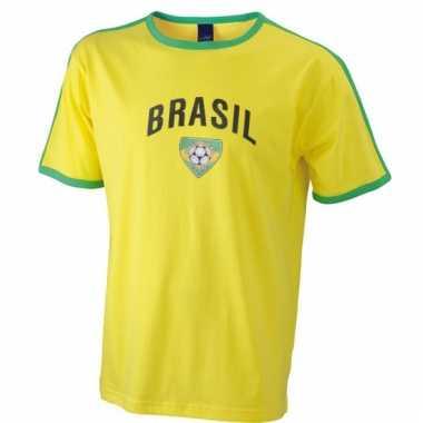 Heren t-shirt met de brasil print
