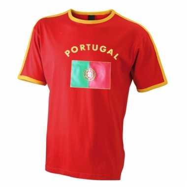 Heren t-shirt met de portugese vlag