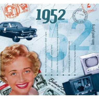 Historische verjaardag cd-kaart 1952