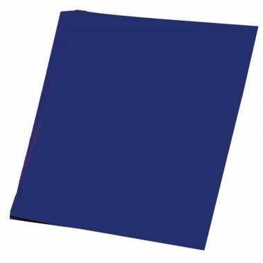 Hobby papier donker blauw a4 100 stuks