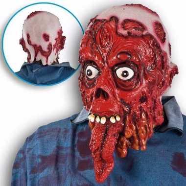 Horror bloed masker man met lange tong