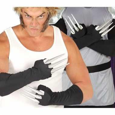 Horror handschoenen met nep ijzeren nagels