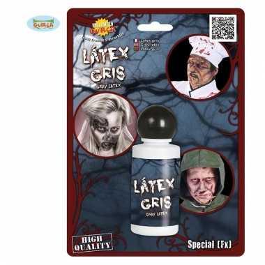 Horror schmink grijze latex