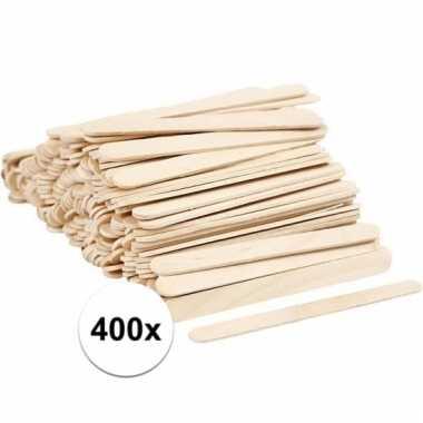 Houten knutselstokjes 400 stuks