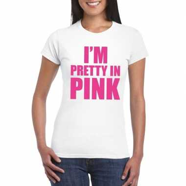 I am pretty in pink shirt wit dames