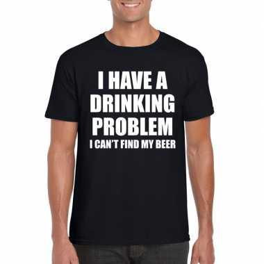 I have a drinking problem fun t-shirt zwart voor heren