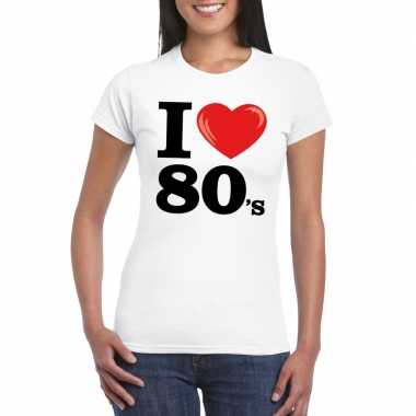 I love 80's t-shirt wit dames