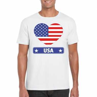 I love amerika t-shirt wit heren