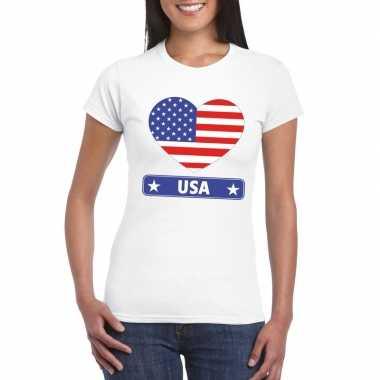 I love amerika/ usa t-shirt wit dames