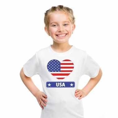 I love amerika/ usa t-shirt wit kinderen