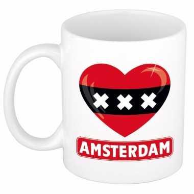 I love amsterdam mok / beker 300 ml