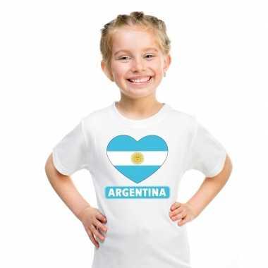 I love argentinie t-shirt wit kinderen