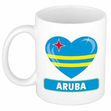 I love aruba mok / beker 300 ml