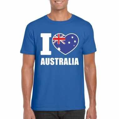 I love australie supporter shirt blauw heren