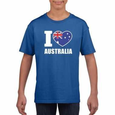 I love australie supporter shirt blauw jongens en meisjes