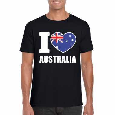 I love australie supporter shirt zwart heren