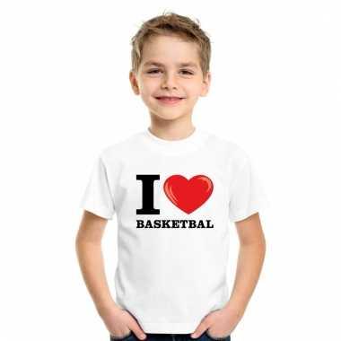 I love basketbal t-shirt wit jongens en meisjes