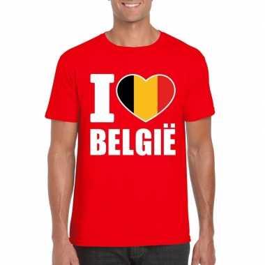 I love belgie shirt rood heren